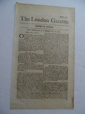 1735 The London Gazette Newspaper East India Company Barbados Antique ORIGINAL