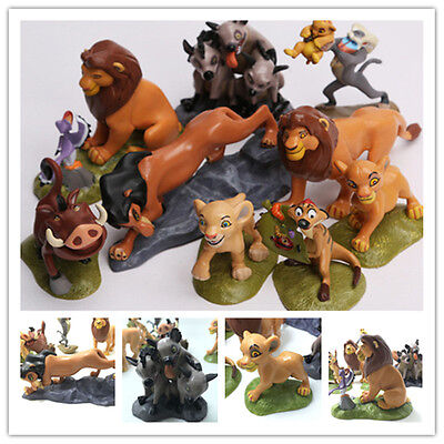 New 9pc / set The Lion King Cake Topper Action Figures Doll Children Toys Simba