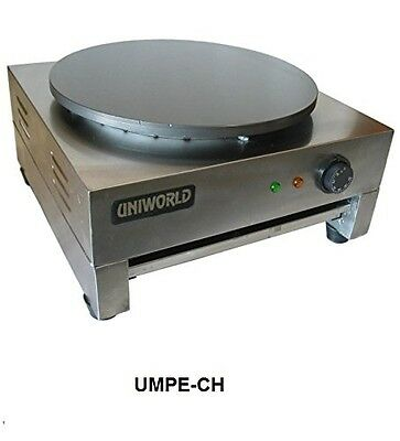 Uniworld Stainless Steel Commercial Pancake & Crepe Machine w/ Carbon Steel Plat