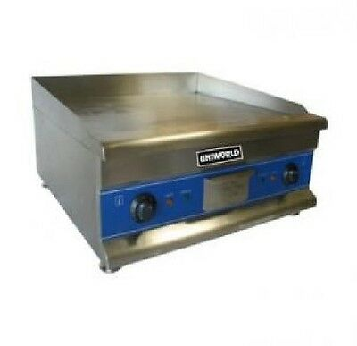New Uniworld 24-inch Electric Griddle Commercial Iron Flat Top Thermostat 24""