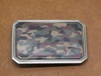 Great American Products 4694 Pewter Camouflage Camo Belt Buckle New