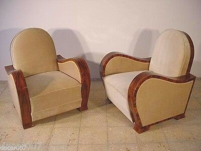 Pair  of  Art  Deco  chair