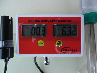 PH Messgerät Leitwert ph meter ph EC Leitwertmesser Aquarium  EC Wert NEU 2063