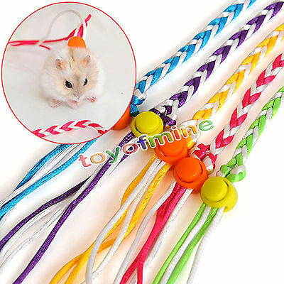 Adjustable Ferret Harness/Baby Rabbit/Hamster Rat Mouse Leash Lead Rope C986