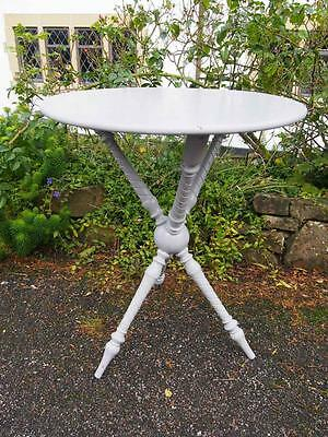 Stunning Antique Victorian Painted Cricket Table with Beautiful Base & Round Top