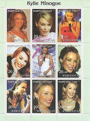 Kylie Minogue Pop Music Icon Kyrgyzstan 2003 Mnh Stamp Sheetlet