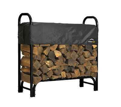 Firewood Log Rack Holder Storage  Outdoor Wood Fire Fireplace