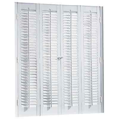 White Color Durable Interior Shutter Colonial Style Faux Wood Made Indoor Window