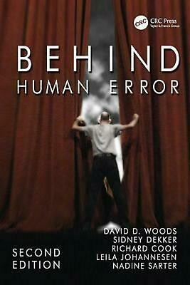 Behind Human Error by David D. Woods (English) Paperback Book Free Shipping!