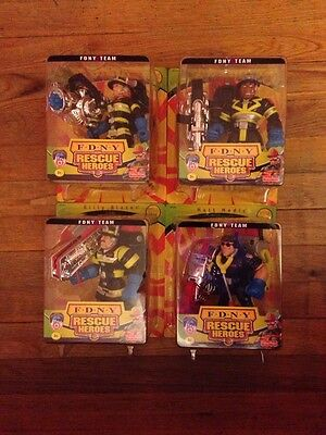 Fisher Price F.D.N.Y Rescue Heroes Collectable Set (4) Waters Blaze Matt