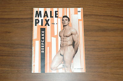 MALE PIX #4 60s VINTAGE MAGAZINE BOYS ART BEEFCAKE GAY MALE NUDE LON OF N.Y.
