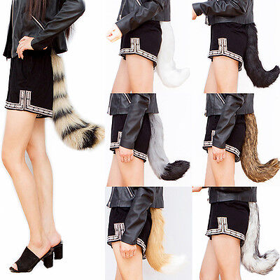 Fox Fake Faux Fur Costume Tail - Wolf Puppy Furry Fursuit Cosplay Cute