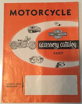Vintage 1957 Harley Davidson Motorcycle Accessory Catalog