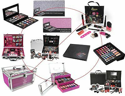 Make Up Beauty Vanity Case Cosmetic Set Gift Travel Carry Box Girls Xmas Gift