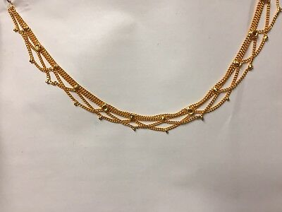 New Arrival Stunning 22ct Gold Plated Indian Pak Pair of Anklet Payal Gold Chain