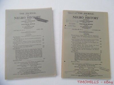 1969 The Journal Of Negro History Magazine Lot of 2 Quarterly Issues VG