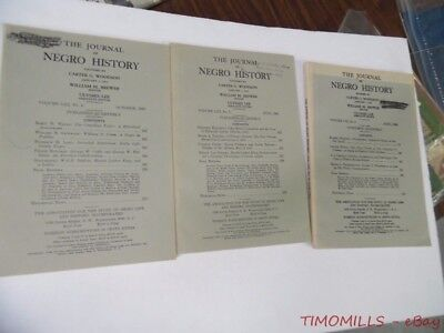 1968 The Journal Of Negro History Magazine Lot of 3 Quarterly Issues VG