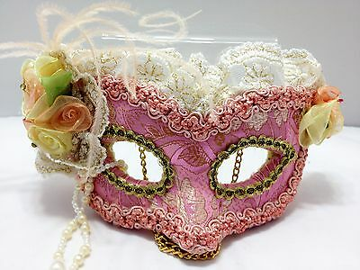 Pink Masquerade Style Mask for Hanging - Wall Art