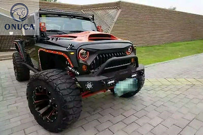 Front Grille New Angry Bird Upgrades Matte Black Fit For Jeep 07-16 JK Wrangler