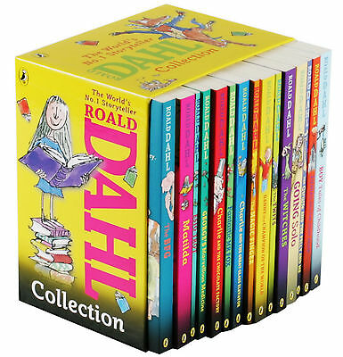 Roald Dahl Collection 15 Paperback Books Gift Box Set - New
