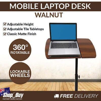 Portable Laptop Stand Adjustable Computer Notebook iPad Bedside Table Desk