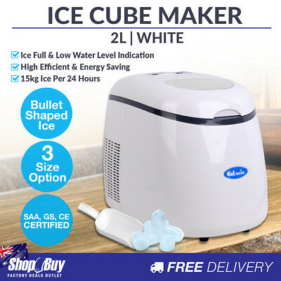 2L Ice Cube Maker Machine Home Commercial Portable Quick Fast Auto Ice Making WH