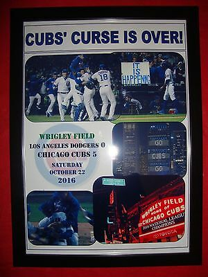 Los Angeles Dodgers 0 Chicago Cubs 5 - Cubs in World Series - framed print