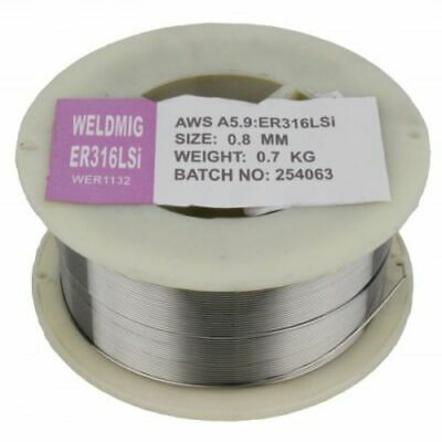 316LSi Stainless Steel Mig Wire - 0.7Kg - 0.6mm, 0.8mm, 1.0mm