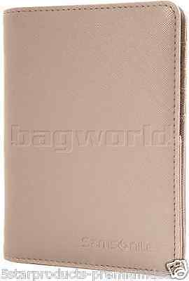 New Samsonite Rfid Blocking Passport Cover Sandstone Wallet Travel Safe Holder