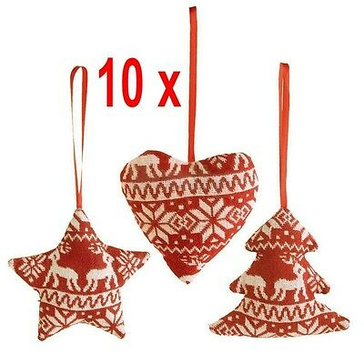 10x Christmas Tree Decoration Xmas Holiday Party Hanging Ornament Decoration