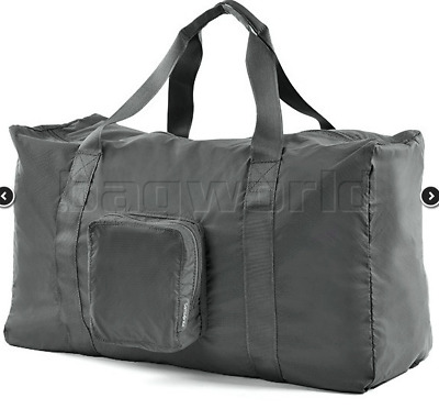New Samsonite Travel Accessories Foldable Duffle Tote Bag Beach Grey Fold Store