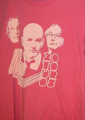 REM 2008 Concert Accelerate Tour Shirt Size Large pre-owned