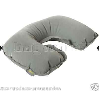 New Samsonite Travel Accessories Inflatable Pillow Grey Travelling Flight Neck