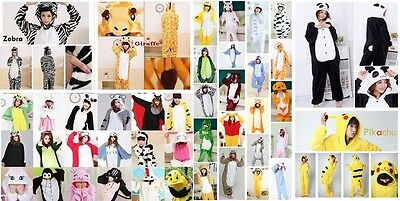sell ! Unisex Adult Pajamas Kigurumi Cosplay Costume Animal bodysuit Sleepwear
