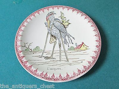 "L'invalide collector plate by Monterland France RARE! 8 3/4"" diam [a4red]"