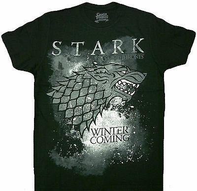 HBO'S Game of Thrones Winter Is Coming Stark Adult T-Shirt - Officially Licensed
