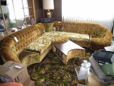 Corner Style Sectional Couch W/ Ottoman and table