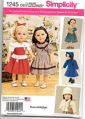 18-inch Doll Variety Clothes Sewing Pattern # 1245