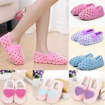 Women's Ladies Comfortable Home Office Cotton Slippers Anti-skid Shoes AU3.5-7.5
