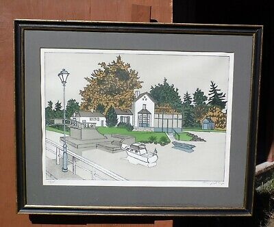 Vtg Mid Century Modern French Artist Denis Paul Noyer Limited Edition Lithograph