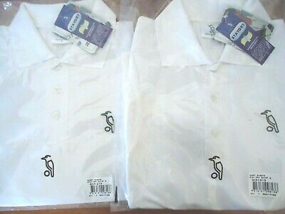 2X Cricket Shirt White Short Sleeve S Small Stay Dry Kookaburra New Free Post