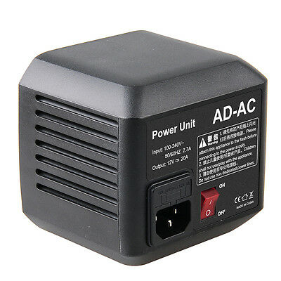 Godox Pro AD-AC Power Unit for Godox AD600 Flash connecting to the power supply