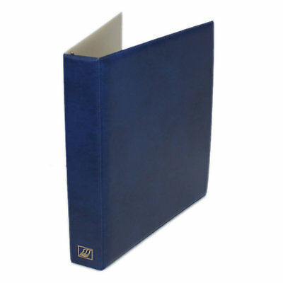 "Seven Seas 32mm ""D"" Ring Binder for Stamps and Banknotes - BLUE"