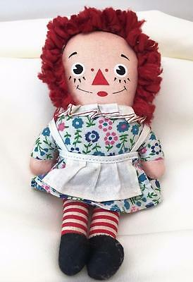 Vintage Knickerbocker Toy Company Raggedy Ann Pocket Rag Doll ~ Dress w/ Apron