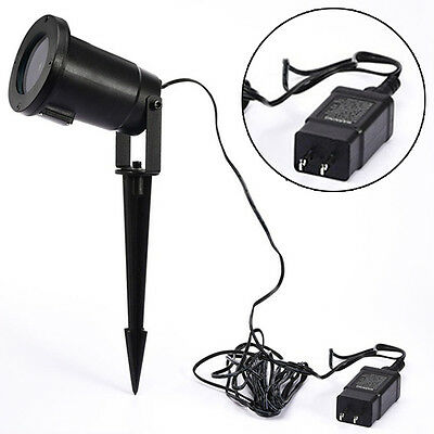 LED Light Moving Snowflake Landscape Laser Projector Lamp Outdoor Garden Xmas US