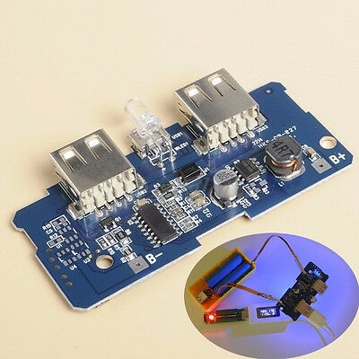 5V 2A Power Bank Charger Board Charging Circuit Board Step Up Module Dual USB