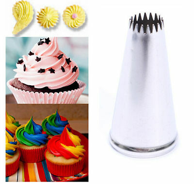 FD3646 Stainless Steel Cake Cup Swirl Mold Icing Piping Nozzle Fondant x1pc
