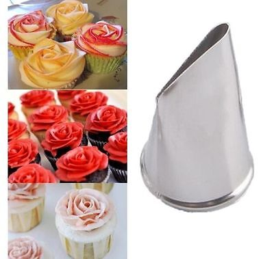 FD3649 Rose Flower Stainless Steel Cake Cup Mold Icing Piping Nozzle Fondant 1pc