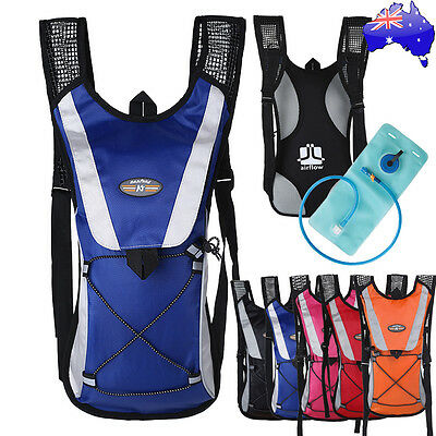 Outdoor Hiking Cycling Rucksack 2L Water Bladder Bag Backpack Hydration Packs AU