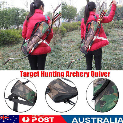 Target Hunting Archery Quiver Back Hip Waist Bag Arrow Bow Holder Pouch  R1BO